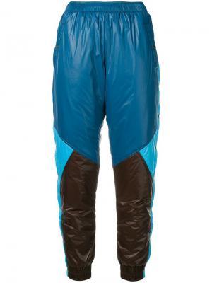 Спортивные брюки дизайна колор-блок Marios. Цвет: синий