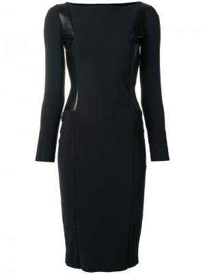 Longsleeve fitted dress Le Petite Robe Di Chiara Boni. Цвет: черный