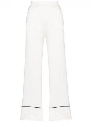 Пижамные брюки Asceno. Цвет: белый