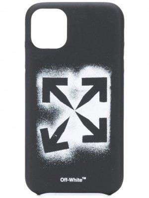 Чехол для iPhone 11 с логотипом Arrows Off-White. Цвет: черный