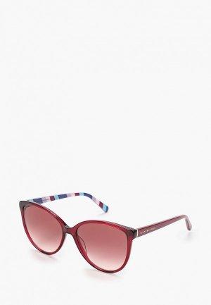 Очки солнцезащитные Tommy Hilfiger. Цвет: красный