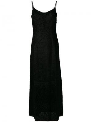 Fil coupé slip dress Ultràchic. Цвет: черный