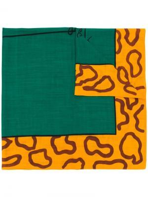 Квадратный шарф с леопардовым принтом JC de Castelbajac Pre-Owned. Цвет: зеленый