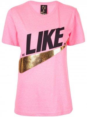 Футболка Like Nil & Mon. Цвет: розовый