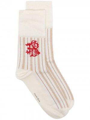 Носки в полоску с логотипом Simone Rocha. Цвет: белый