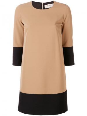 Короткое платье с контрастными панелями Blanca. Цвет: нейтральные цвета