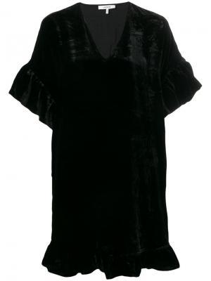 Короткое платье-футболка Aldine Ganni. Цвет: черный