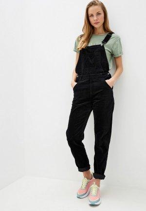 Комбинезон джинсовый Roxy. Цвет: черный
