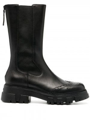 Ботинки с брогированием Ash. Цвет: черный