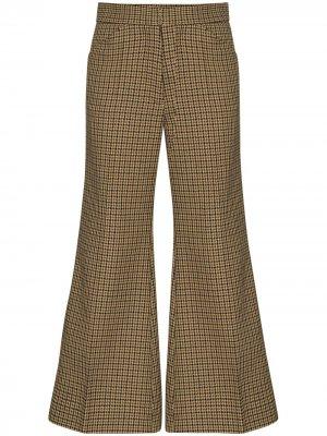 Укороченные расклешенные брюки 2  1952 Moncler. Цвет: коричневый