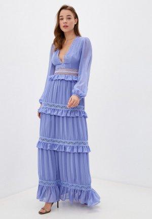 Платье True Decadence. Цвет: голубой