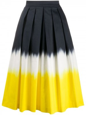Юбка миди со складками Ultràchic. Цвет: желтый