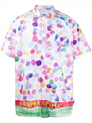 Рубашка с принтом из коллаборации KidSuper Puma. Цвет: белый