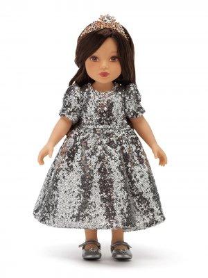 Кукла в платье с пайетками Dolce & Gabbana Kids. Цвет: разноцветный
