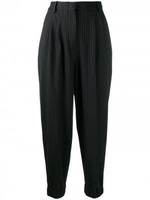 Укороченные брюки в тонкую полоску Antonio Marras. Цвет: черный