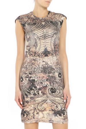 Платье Alexander McQueen. Цвет: бежевый