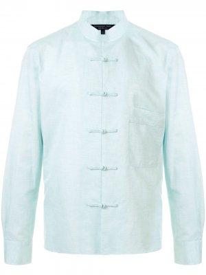 Куртка-рубашка с застежкой тогл Shanghai Tang. Цвет: зеленый