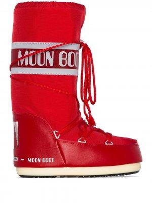 Дутые сапоги Icon Moon Boot. Цвет: красный