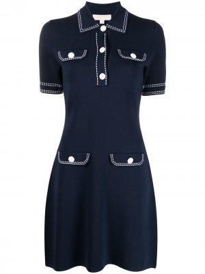Платье-рубашка с короткими рукавами Michael Kors. Цвет: синий