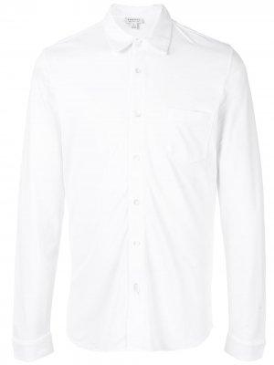 Рубашка свободного кроя из ткани пике Sunspel. Цвет: белый