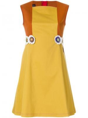 Платье Portofino2 Talbot Runhof. Цвет: желтый