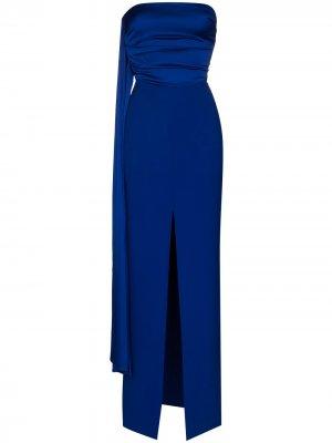 Вечернее платье Solace London. Цвет: синий