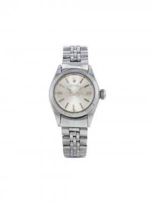 Наручные часы Oyster Perpetual pre-owned 25 мм 1965-го года Rolex. Цвет: серебристый