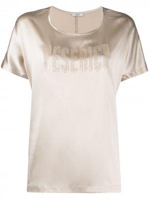 Блузка с короткими рукавами Peserico. Цвет: нейтральные цвета
