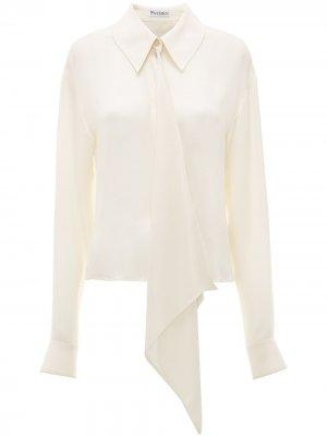 Блузка с драпировкой JW Anderson. Цвет: белый