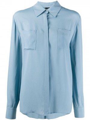Рубашка Norina с накладным карманом Pinko. Цвет: синий