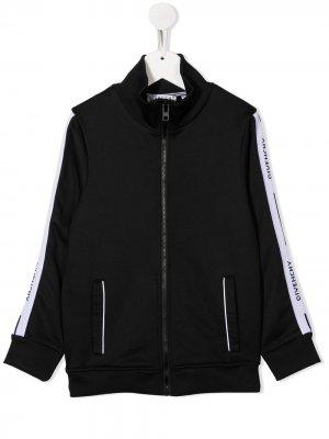 Куртка со вставками Givenchy Kids. Цвет: черный
