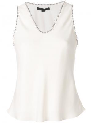 Блузка с заклепками Alexander Wang. Цвет: нейтральные цвета