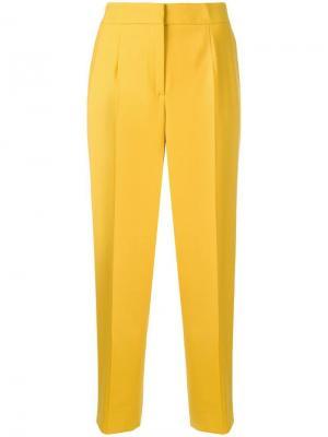 High-rise tailored trousers Oscar de la Renta. Цвет: желтый