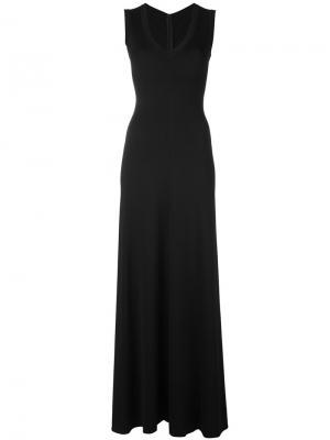Длинное платье Alaïa Vintage. Цвет: черный