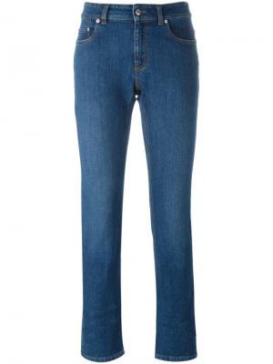 Укороченные джинсы Alexander McQueen. Цвет: синий