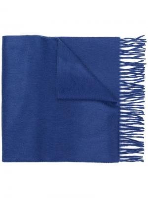 Fringed edge scarf Begg & Co. Цвет: синий
