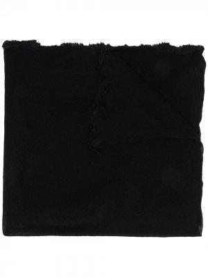 Кашемировый шарф с бахромой Altea. Цвет: черный