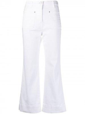 Укороченные расклешенные джинсы Haikure. Цвет: белый