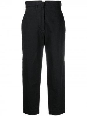 Укороченные брюки прямого кроя Margaret Howell. Цвет: черный