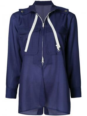 Легкая куртка Yohji Yamamoto Vintage. Цвет: синий