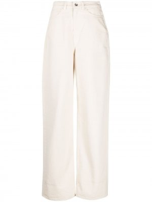 Широкие джинсы с подворотами YMC. Цвет: нейтральные цвета