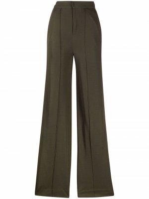 Расклешенные брюки с завышенной талией Rag & Bone. Цвет: зеленый