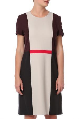 Платье Hugo Boss. Цвет: бежевый