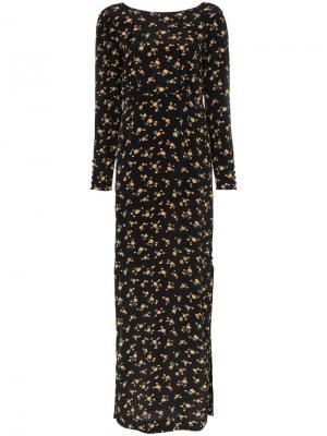 Платье макси с цветочным принтом By Timo. Цвет: черный