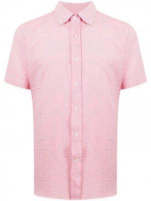 Рубашка из сирсакера с короткими рукавами Man On The Boon.. Цвет: красный