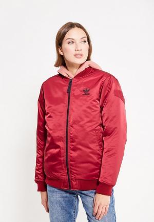 Куртка утепленная adidas Originals. Цвет: бордовый