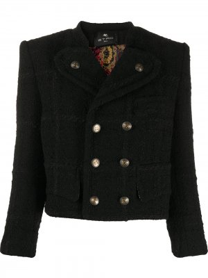 Укороченный двубортный пиджак Etro. Цвет: черный