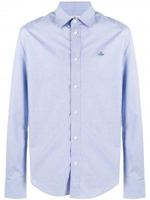 Рубашка с вышитым логотипом Vivienne Westwood. Цвет: синий