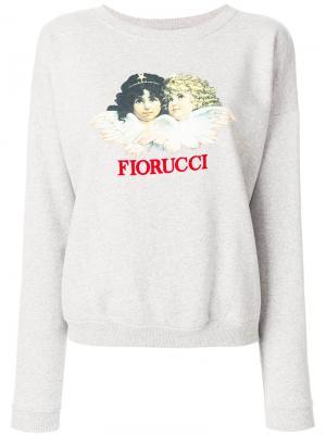 Толстовка с принтом-логотипом Fiorucci. Цвет: серый