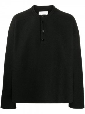 Пуловер на пуговицах Jil Sander. Цвет: черный